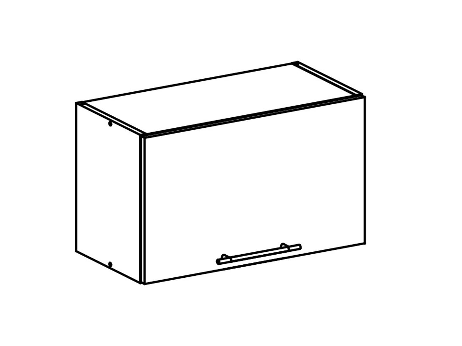 Tempo Kondela FABIANA, horní skříňka, W-60OK, bílá