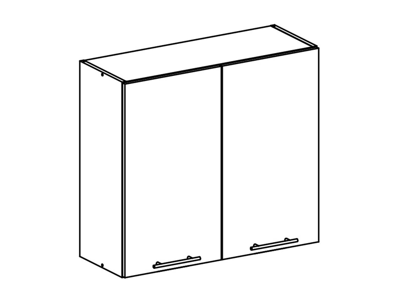 Tempo Kondela FABIANA, horní skříňka, W-80, bílá