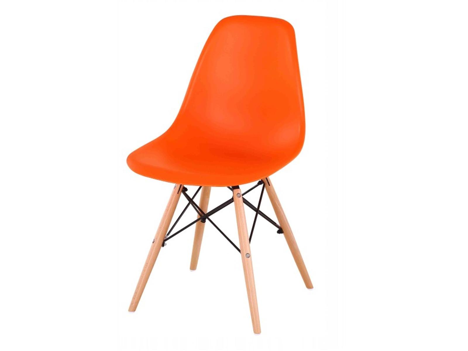 Tempo Kondela Jídelní židle CINKLA NEW, oranžová/buk
