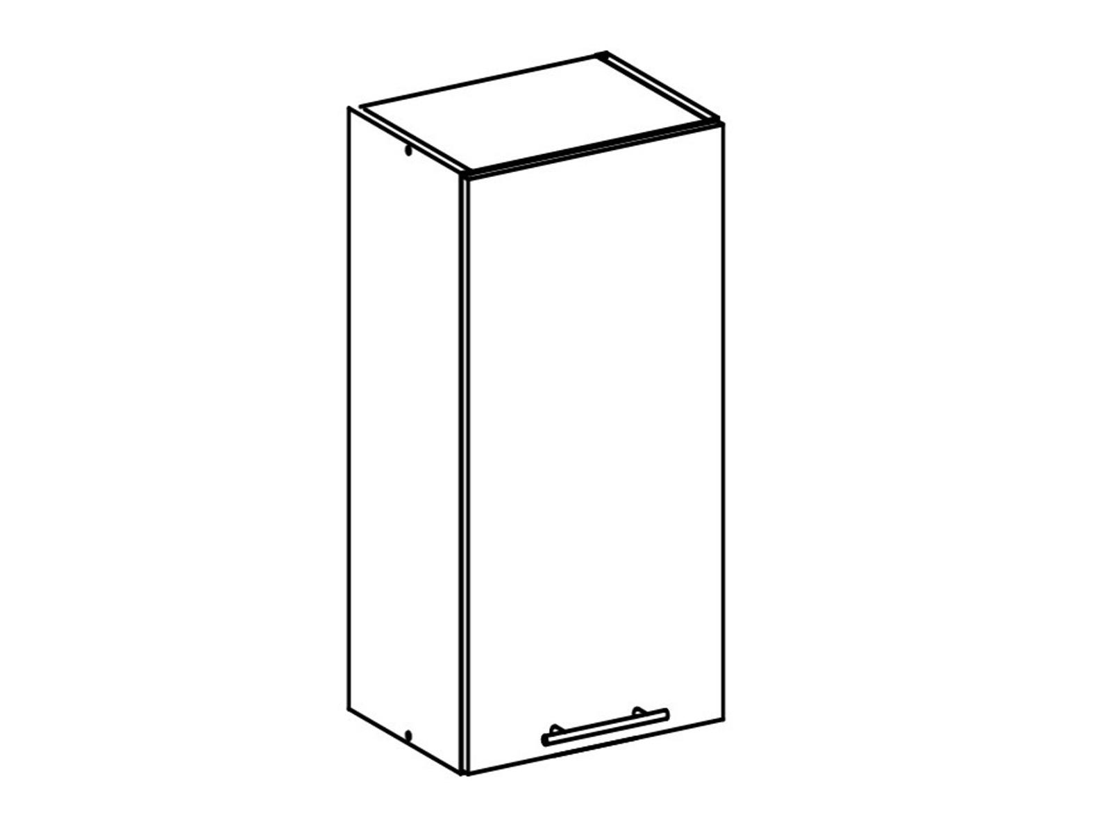 Tempo Kondela FABIANA, horní skříňka, W-30, bílá
