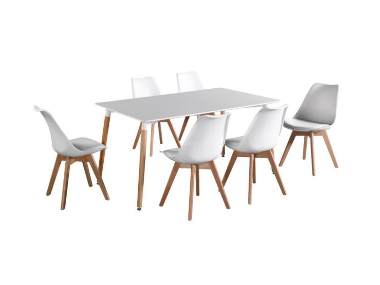 Tempo Kondela Jídelní stůl DIDIER, bílý/buk