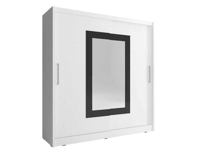 Smartshop Skříň WIKI II se zrcadlem 180 cm, bílá