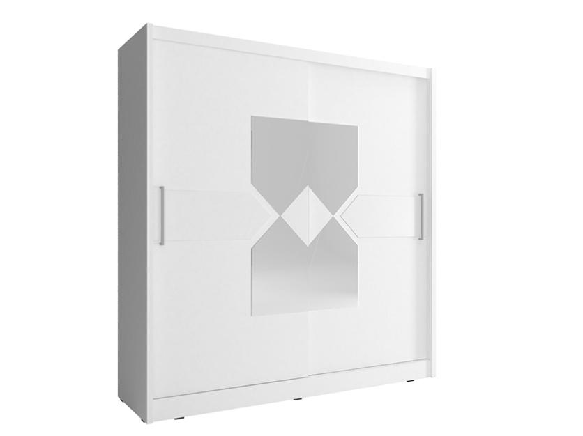 Smartshop Skříň WIKI VII se zrcadlem 180 cm, bílá