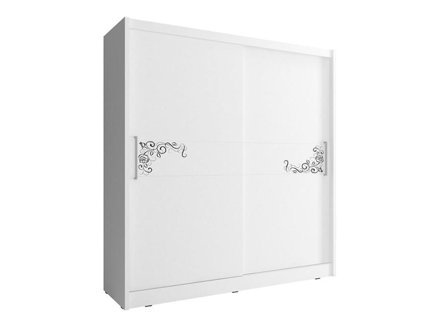 Smartshop Skříň WIKI Vb se vzorem 180 cm, bílá