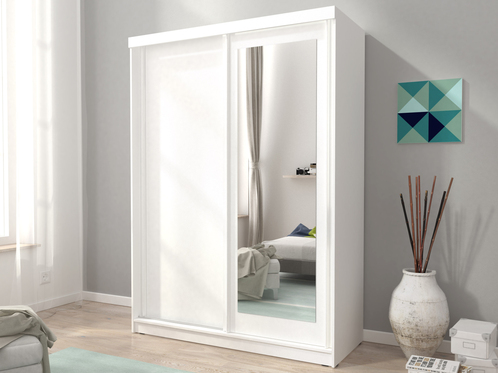 Skříň ALASKA 150 cm, bílá