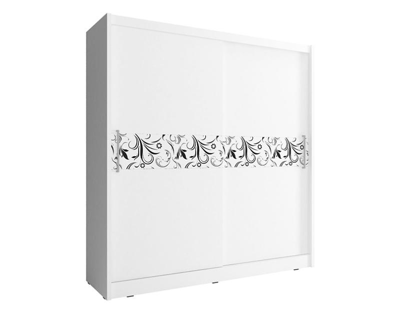 Smartshop Skříň WIKI Vc se vzorem 180 cm, bílá