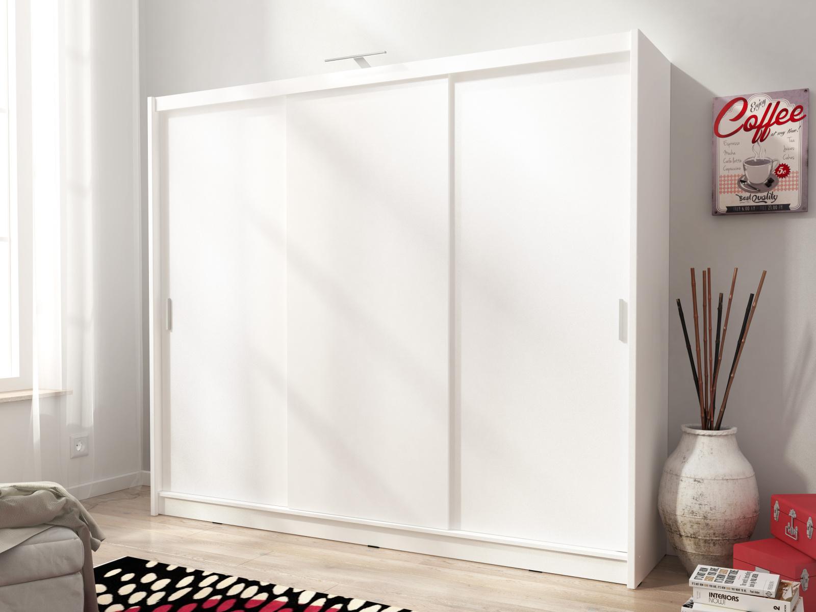 Smartshop Skříň WIKI I 250 cm, bílá