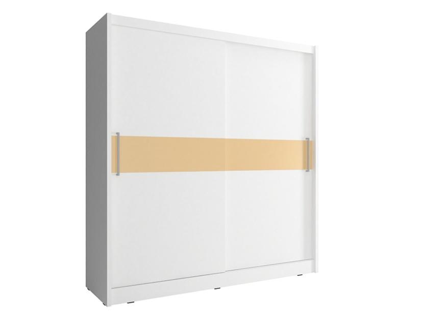 Smartshop Skříň WIKI V s pruhem 180 cm, bílá