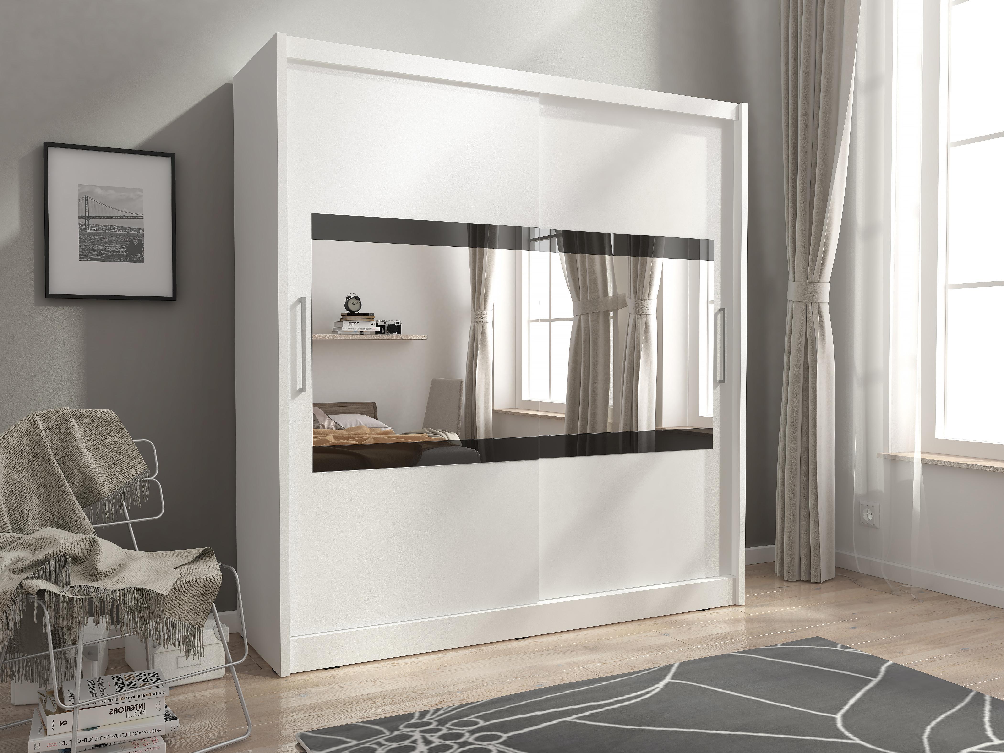 Smartshop Skříň MAJA IV se zrcadlem 180 cm, bílá
