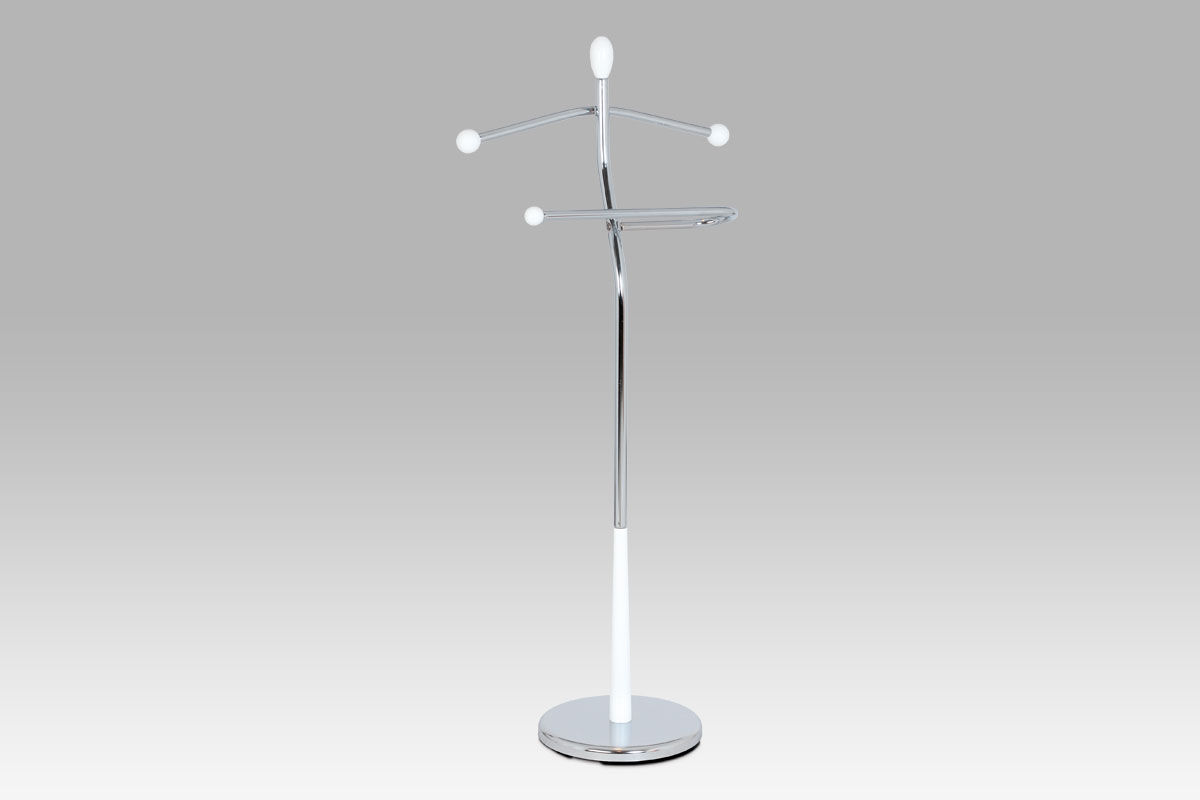 Autronic Němý sluha chrom / bílá V82646 WT