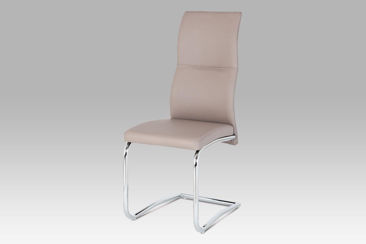 Autronic Jídelní židle lanýžová koženka / chrom DCL-995 LAN