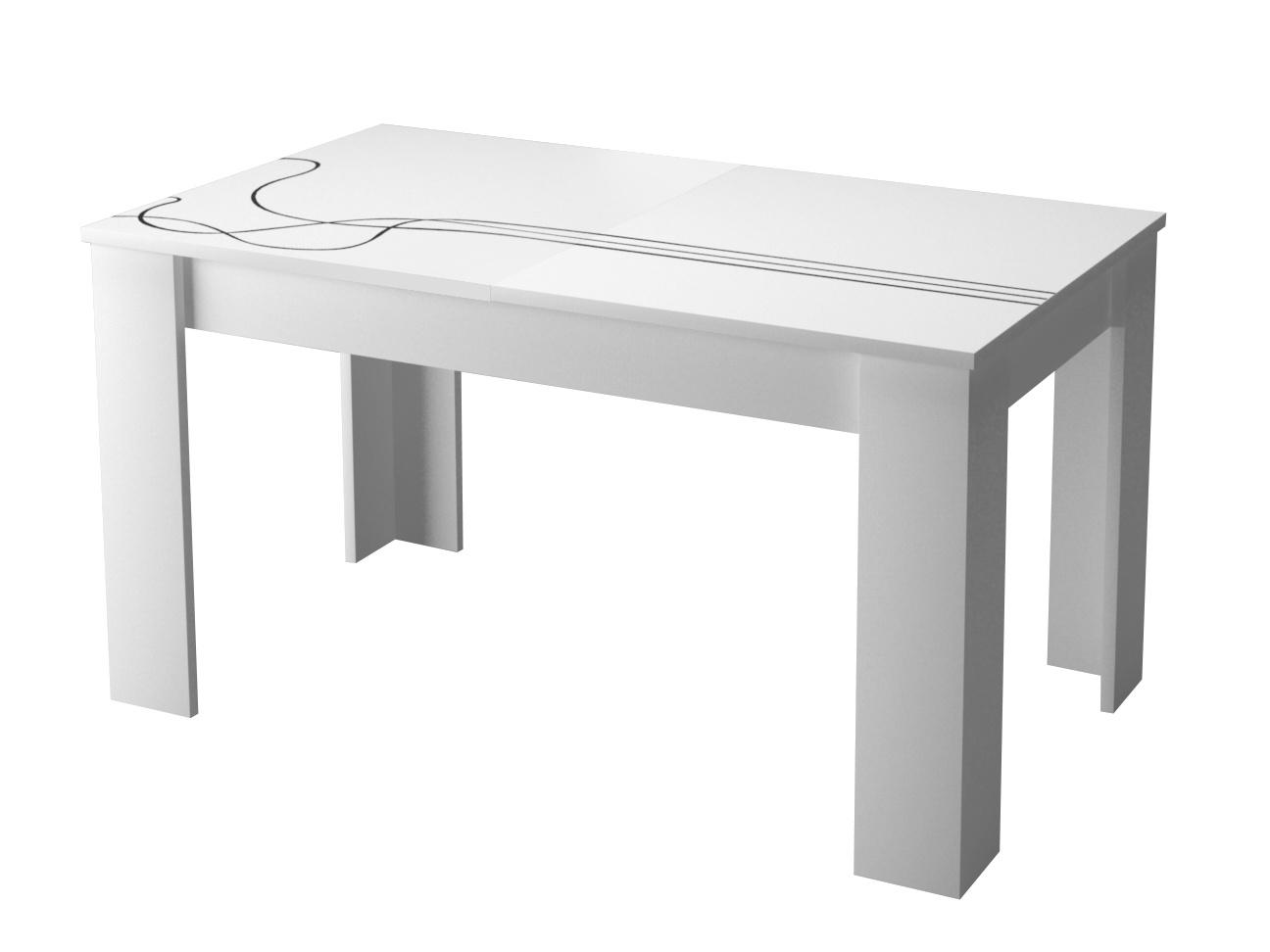 Smartshop Jídelní rozkládací stůl LINO LL140, bílá/vzor