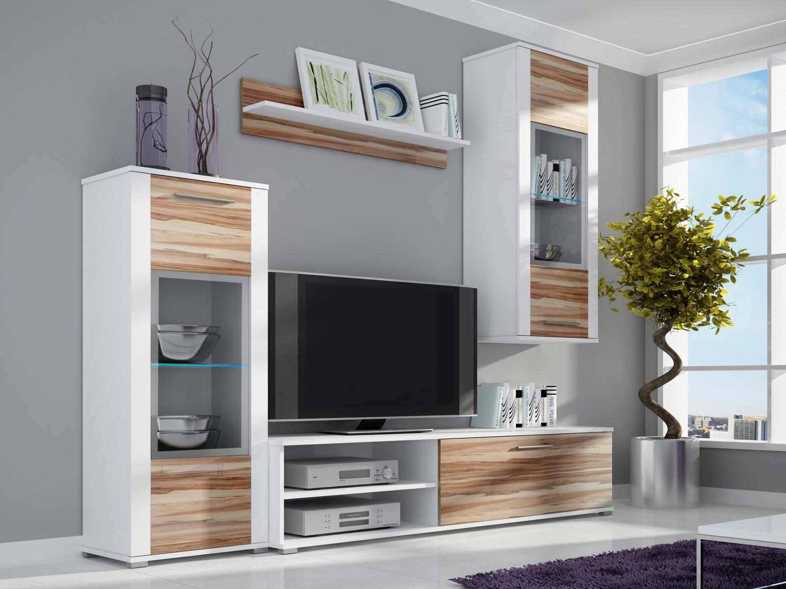 Smartshop Obývací stěna BEN 2, bílá/baltimore