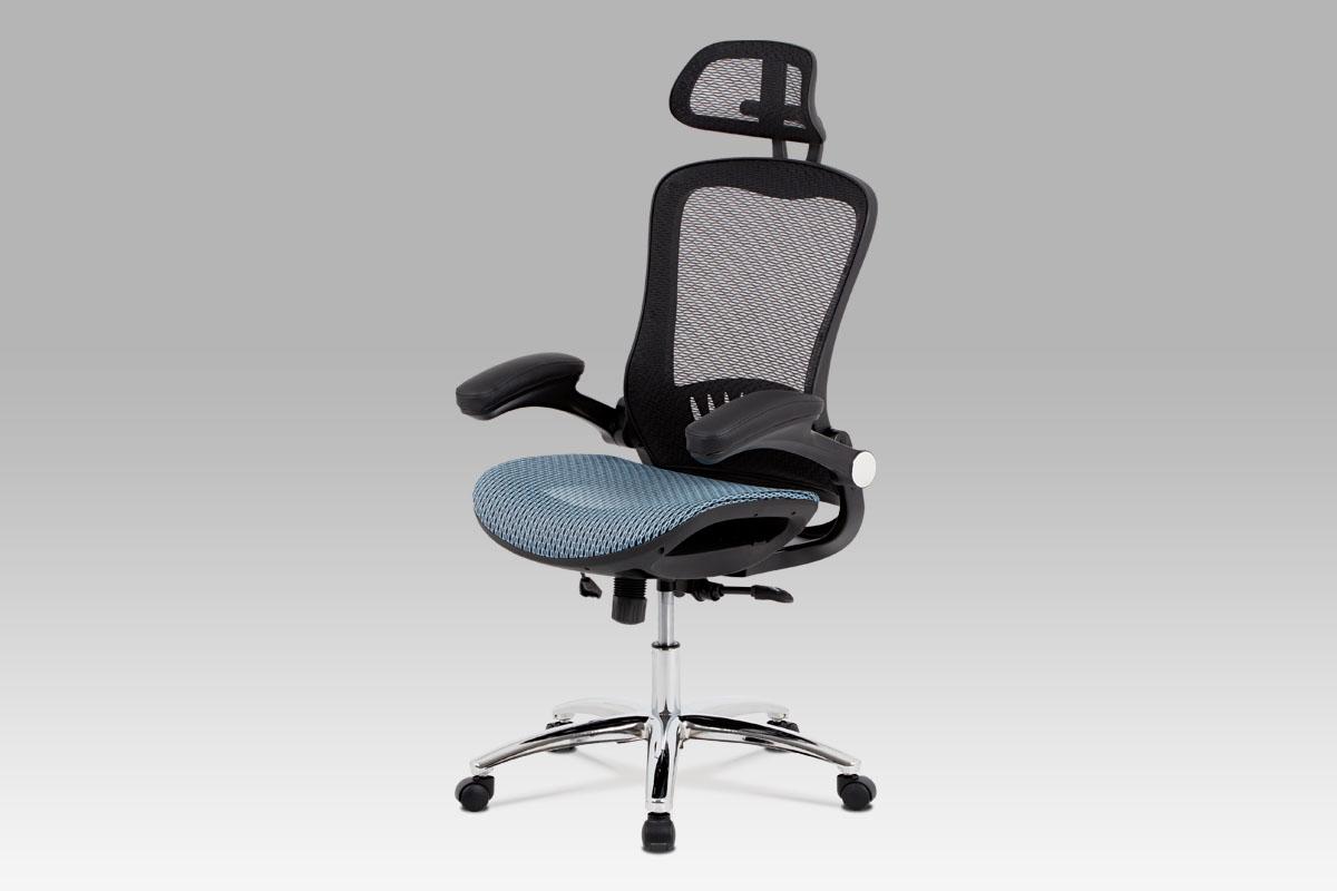 Autronic Kancelářská židle KA-A185 BLUE, černá/modrá