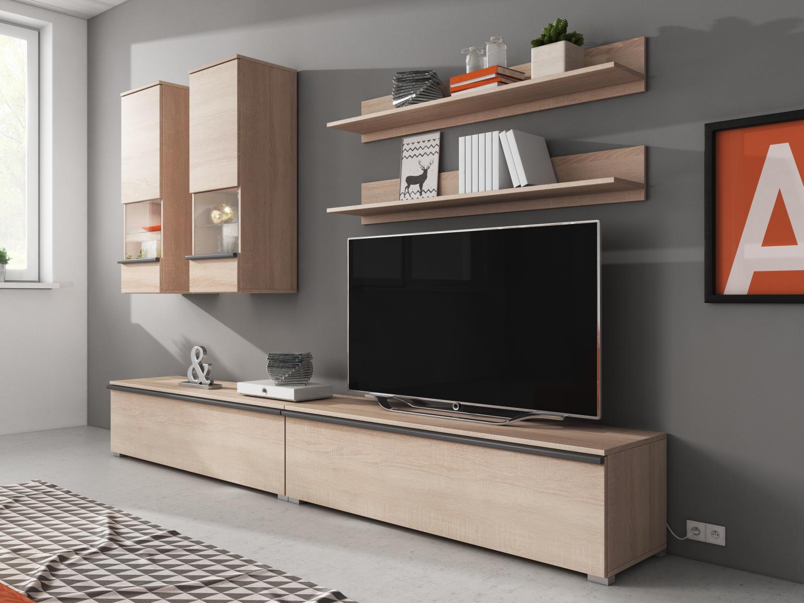 Smartshop Obývací stěna LARGO II, dub sonoma