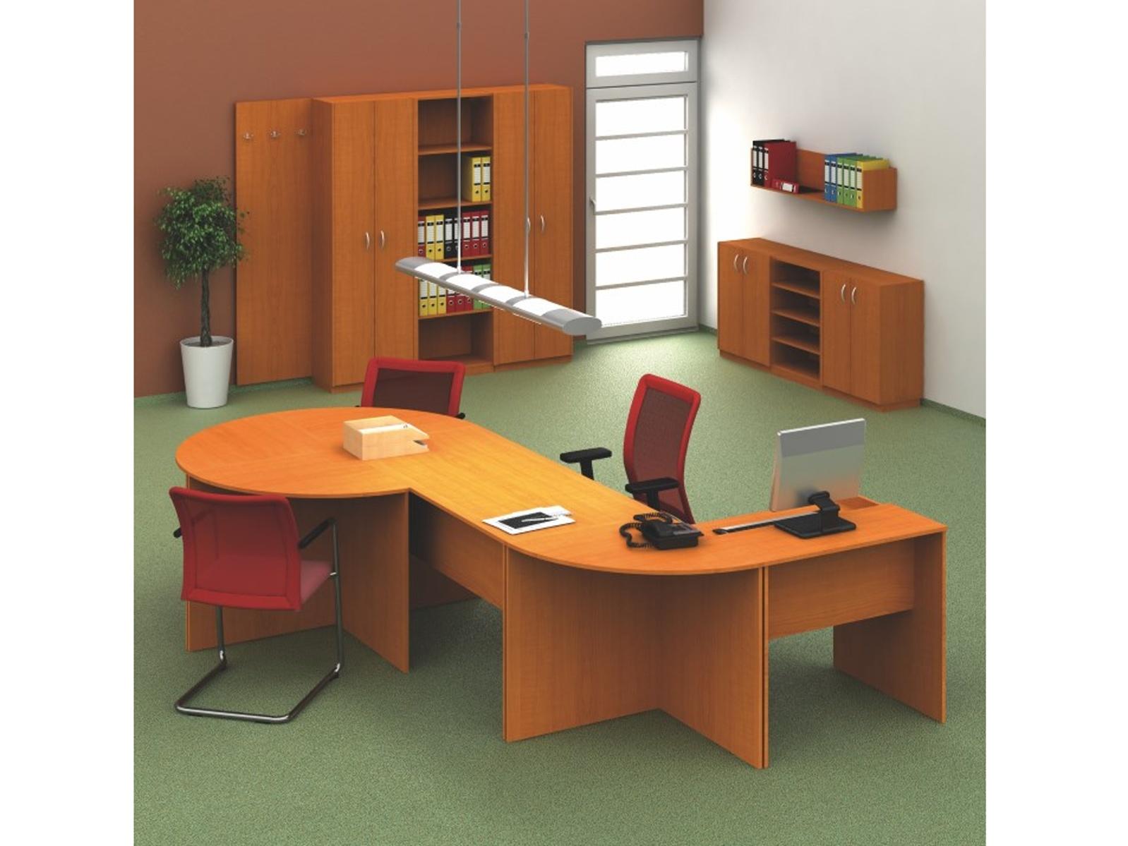 TEMPO AS, kancelářská sestava 4, třešeň