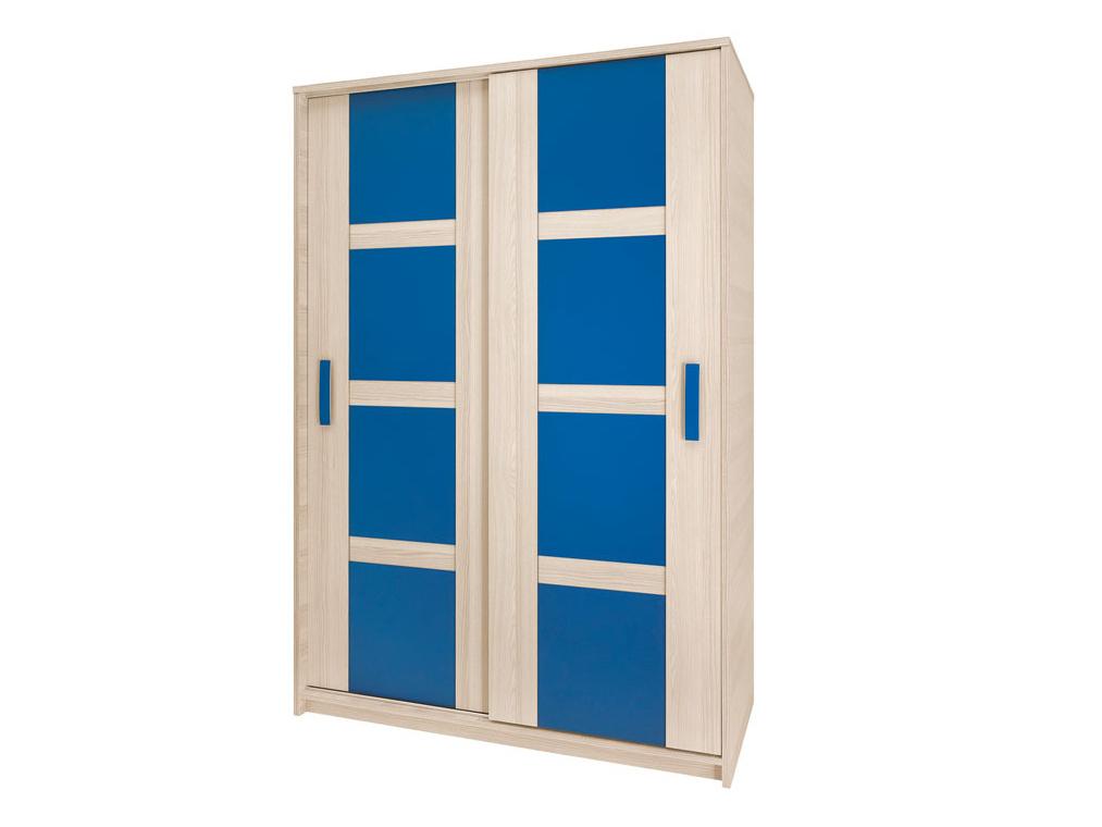 Smartshop BREGI šatní skříň 140, jasan/modrá