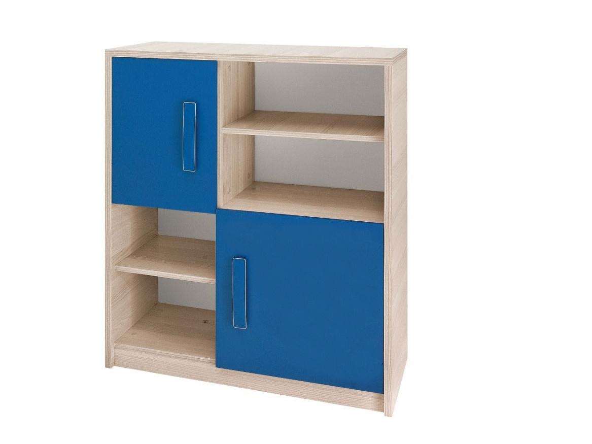 Smartshop BREGI komoda K2D, jasan/modrá