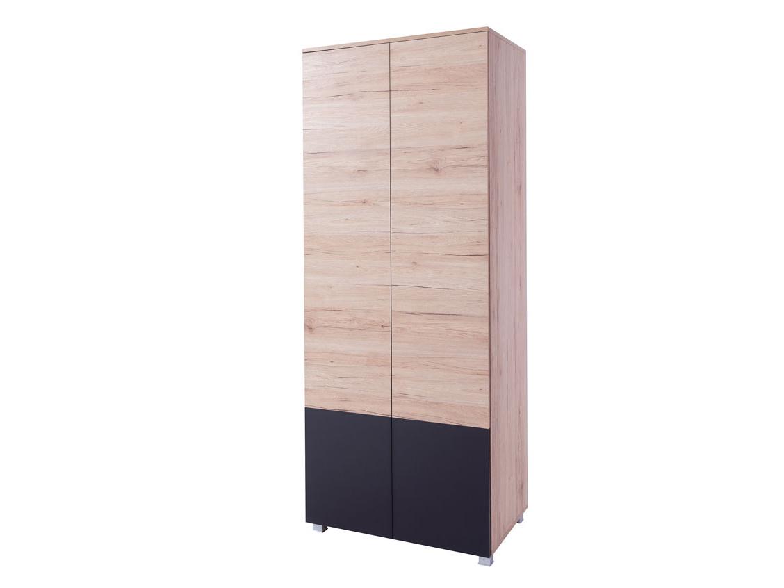 Smartshop ADEN šatní skříň, dub sanremo světlý/grafit lesk