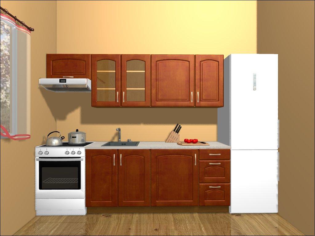 Kuchyně MELOS 180/240 cm, bříza orange