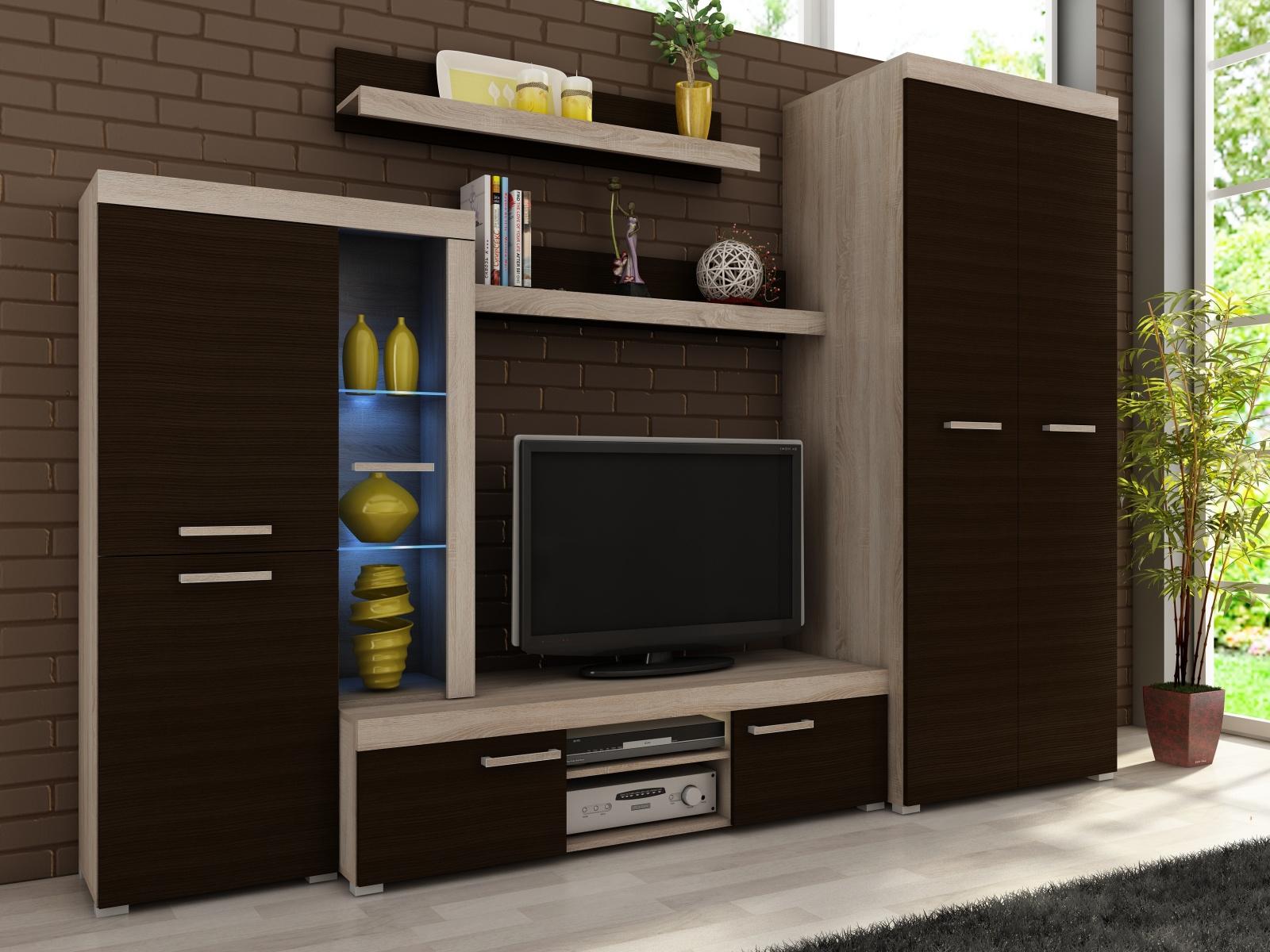 Smartshop Obývací stěna SERGIO II, dub sonoma/maggia