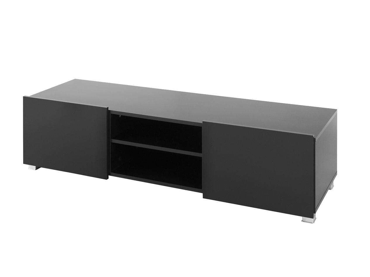 Smartshop Televizní stolek GORDIA RTV2D, černá/černý lesk