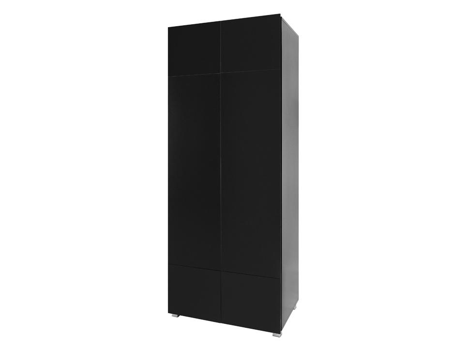 Smartshop Šatní skříň GORDIA SZ2D, černá/černý lesk