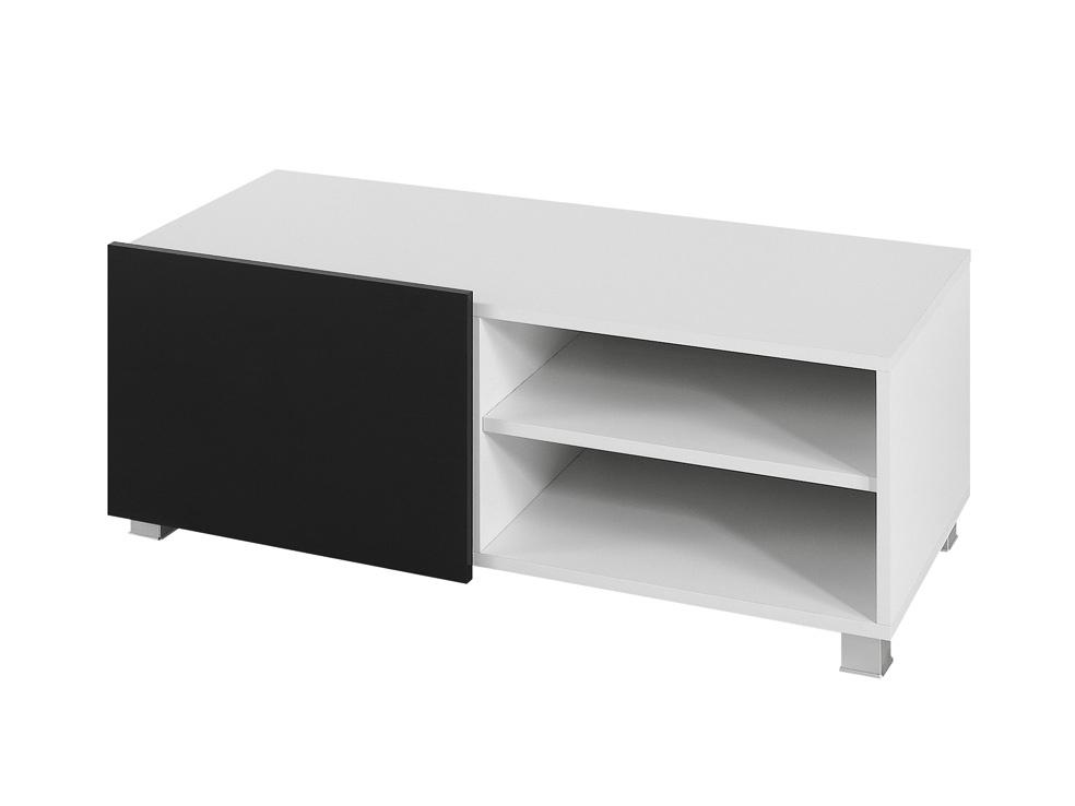 Smartshop Televizní stolek GORDIA RTV1D, bílá/černý lesk