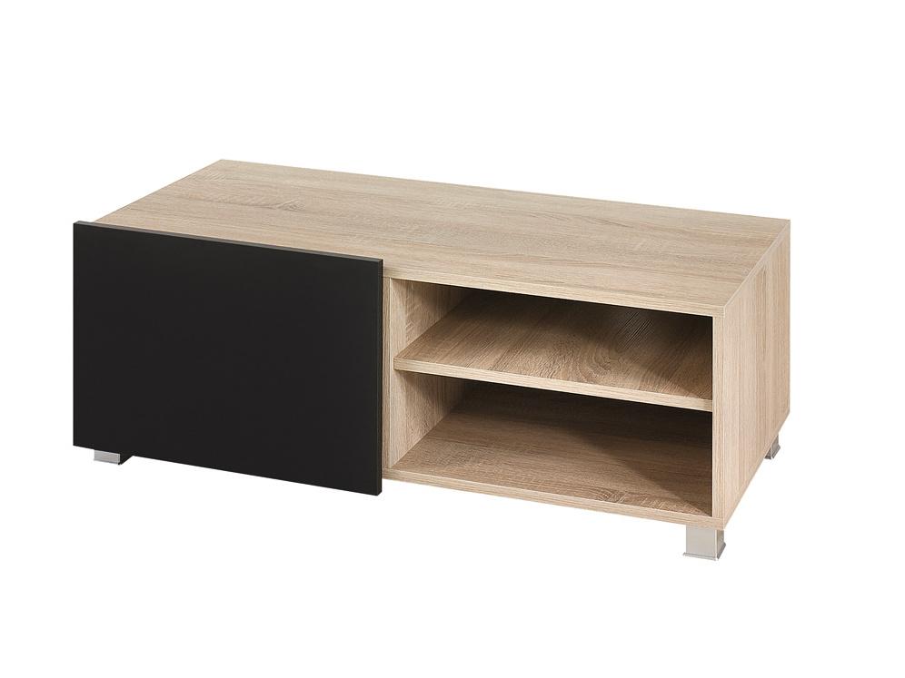 Smartshop Televizní stolek GORDIA RTV1D, dub sonoma/černý lesk