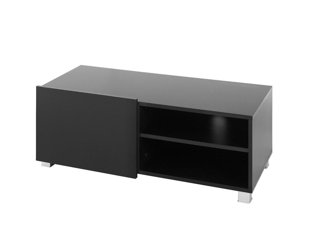 Smartshop Televizní stolek GORDIA RTV1D, černá/černý lesk