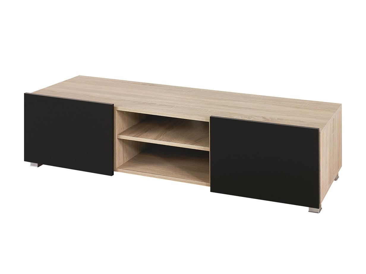 Smartshop Televizní stolek GORDIA RTV2D, dub sonoma/černý lesk