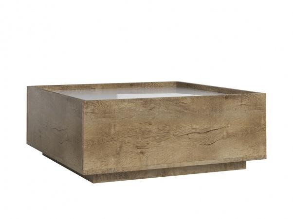 ASPEN konferenční stolek LN, dub lefkas/bílý lesk