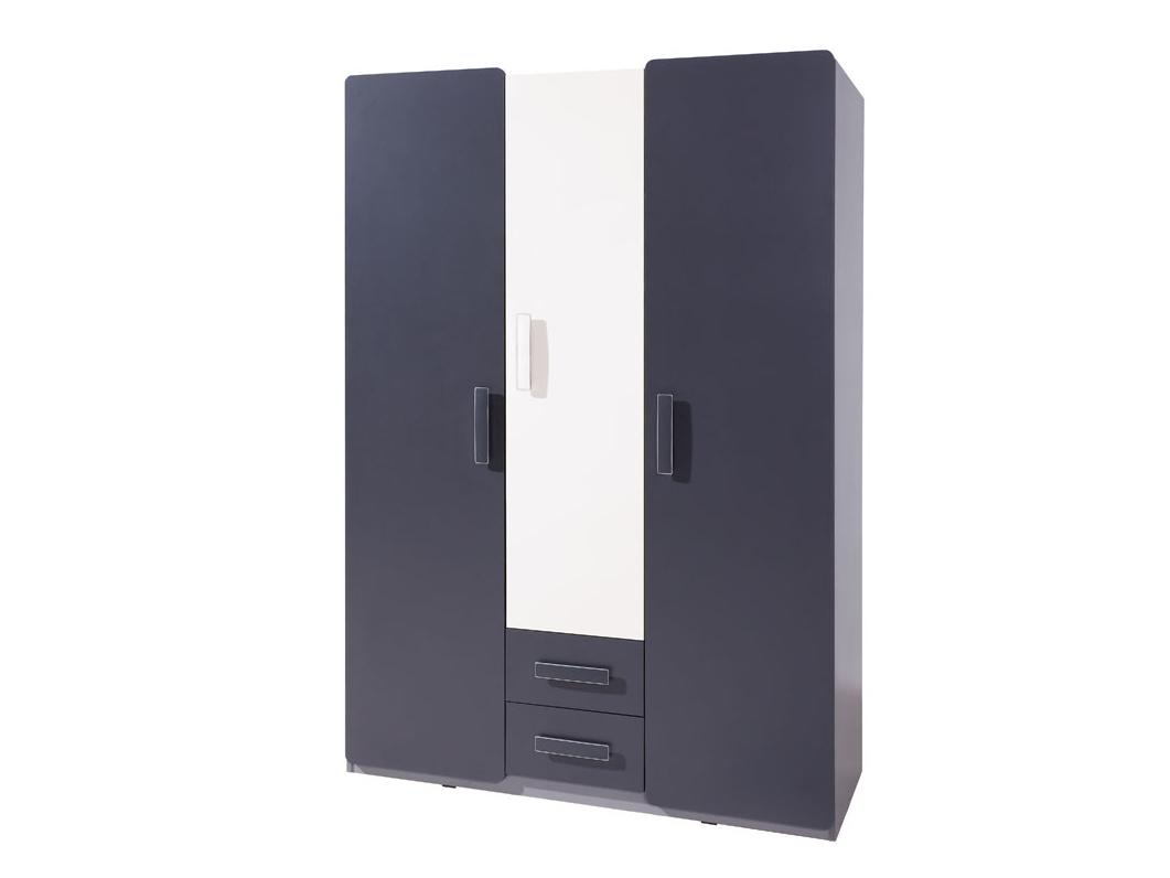 Smartshop Šatní skříň LIDO SZ3D2SZ, šedá/grafit+bílá