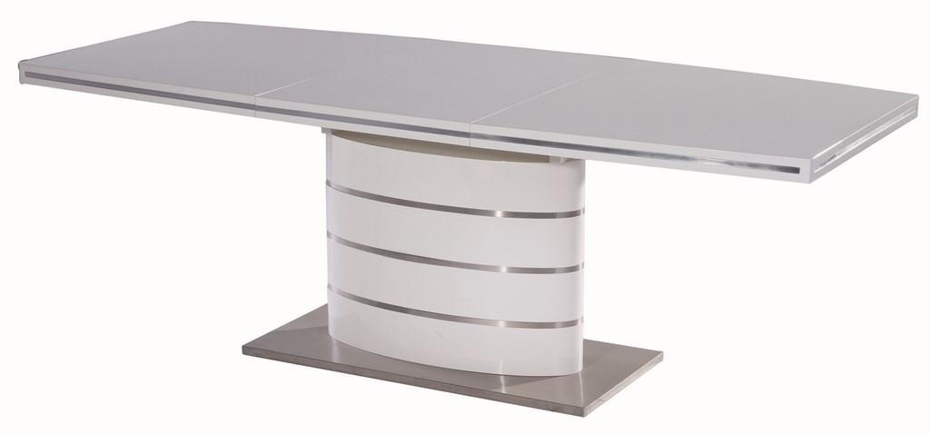 Smartshop Jídelní stůl FANO 160 rozkládací, bílý