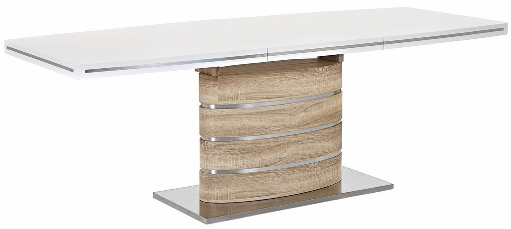 Smartshop Jídelní stůl FANO 160 rozkládací, sonoma