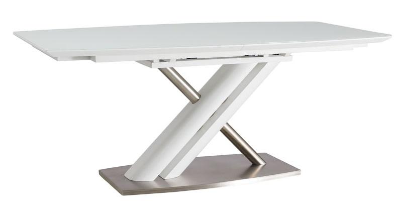 Jídelní stůl ALZANO rozkládací, bílá