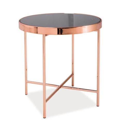 Konferenční stolek GINA C, kov/sklo