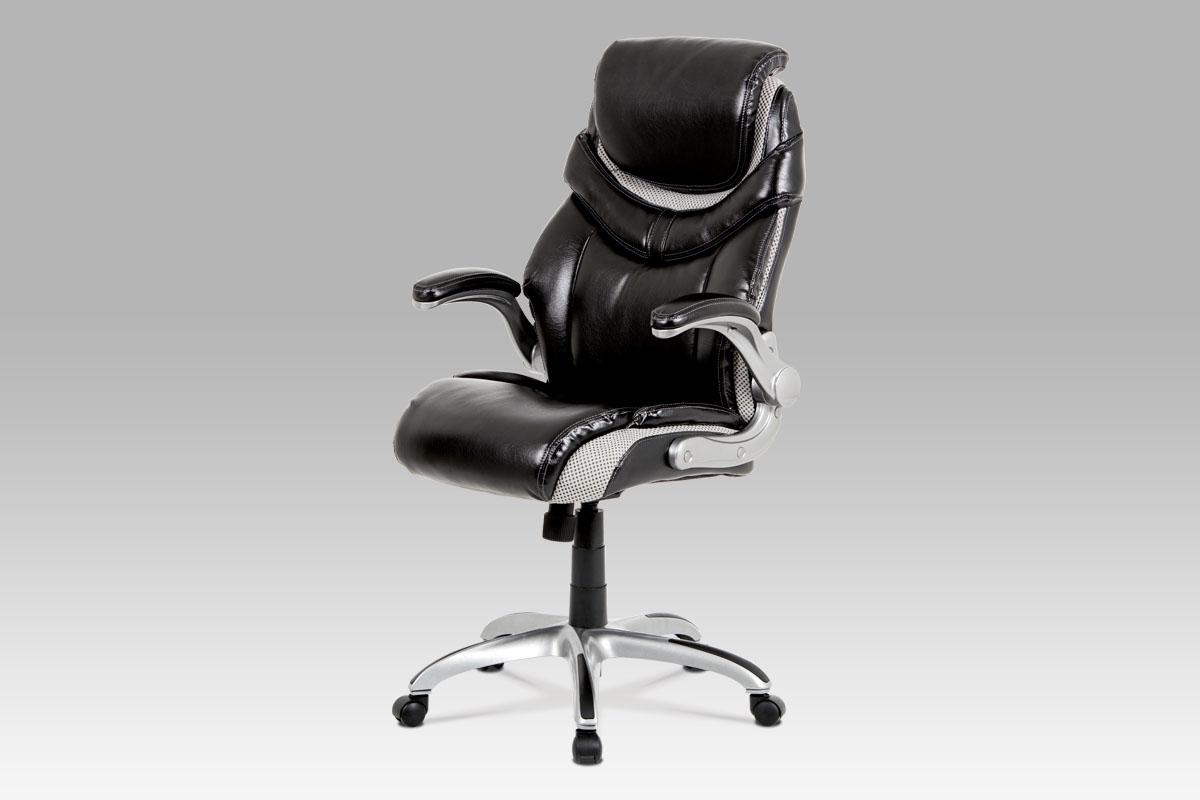 Autronic Kancelářská židle KA-A170 BK, černá koženka