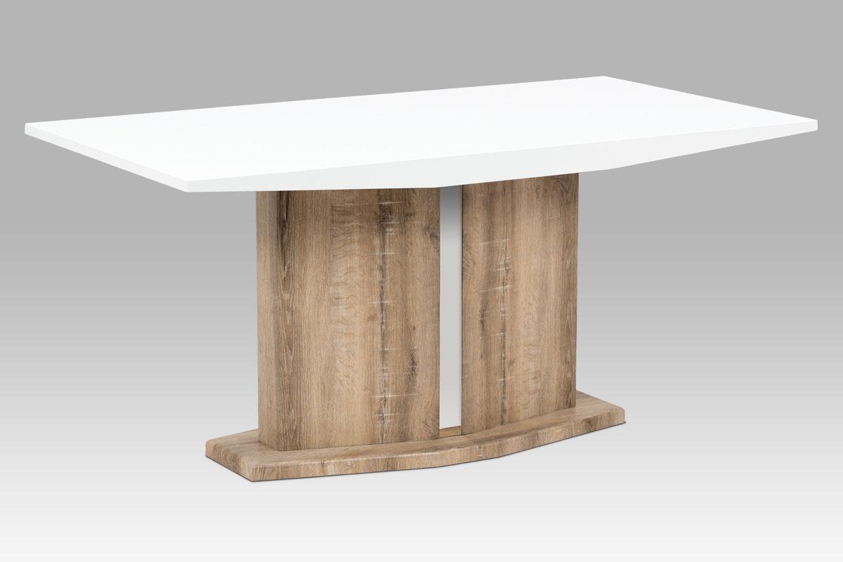 Smartshop Jídelní stůl SAT-2013 CAN, vysoký lesk bílý/canyon grey