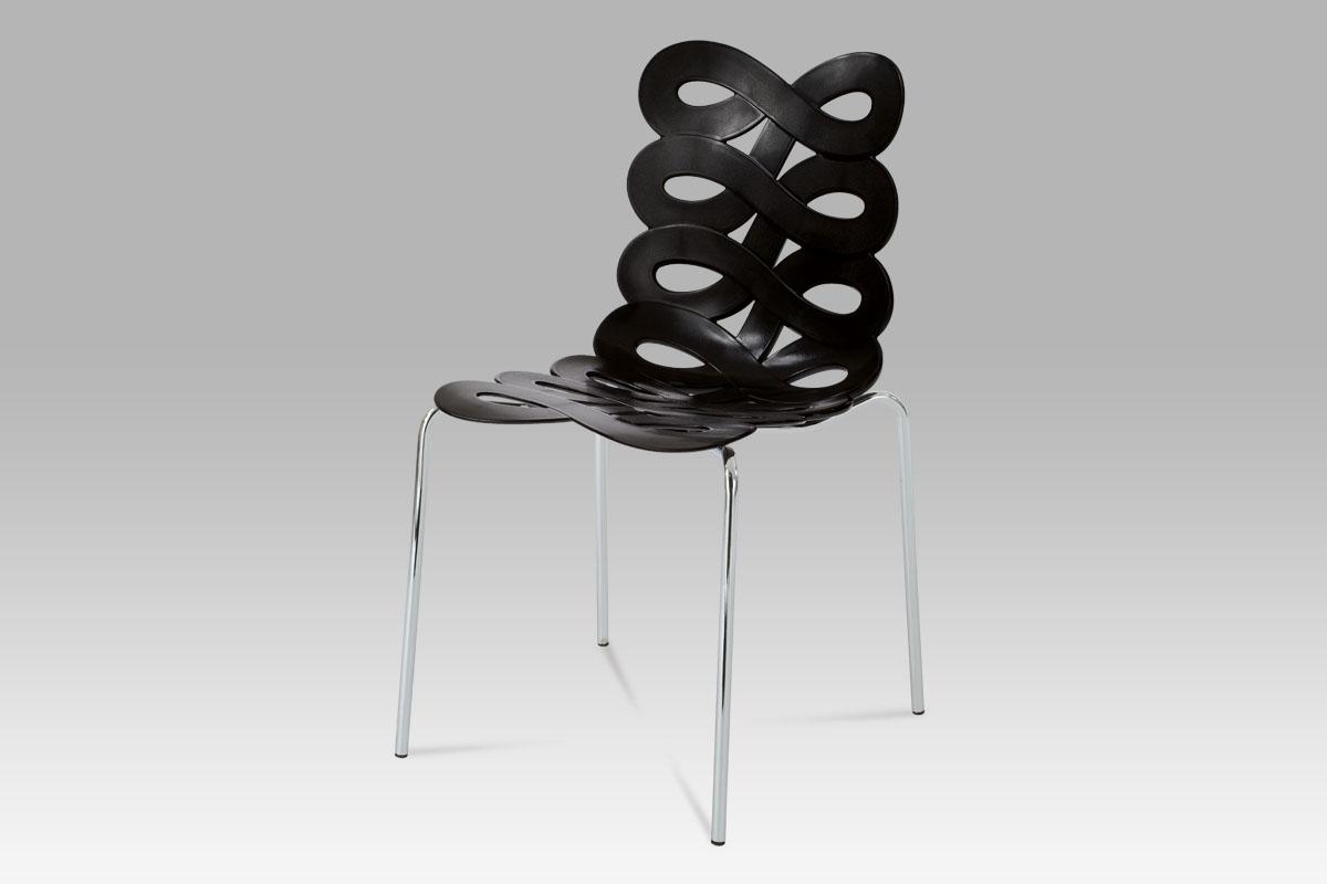 Autronic Jídelní židle CT-337 BK, černý plast