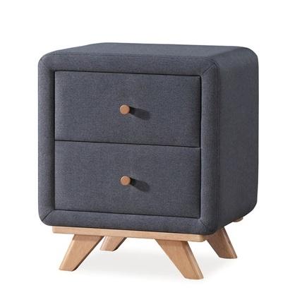 Noční stolek MELISSA, šedý