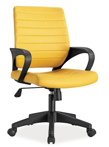 Kancelářské křeslo Q-051, žlutá