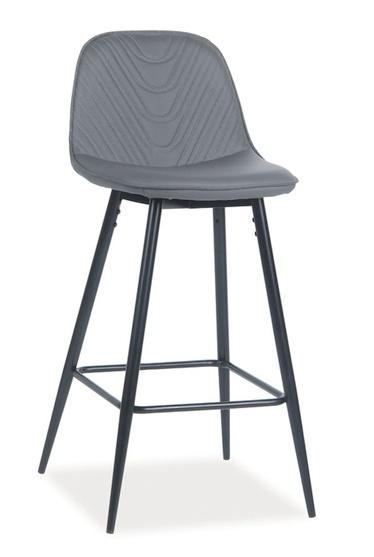 Smartshop Barová čalouněná židle TEO H-1, šedá
