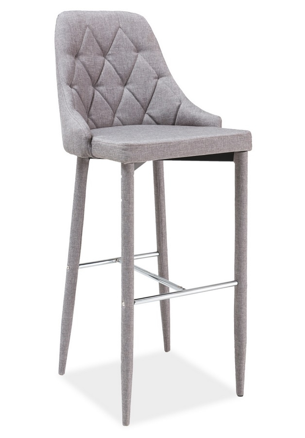 Smartshop Barová čalouněná židle TRIX, šedá
