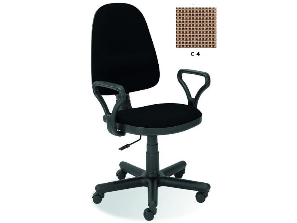 Halmar Kancelářská židle BRAVO, C-4, hnědý potah