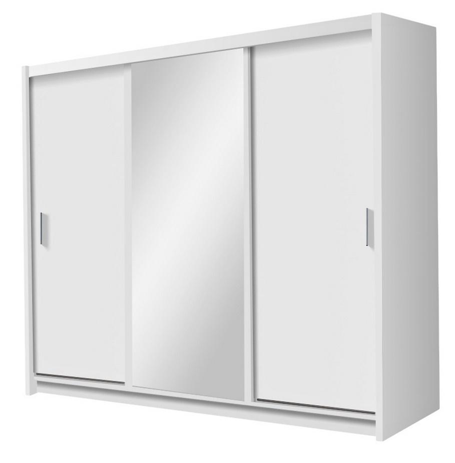 Šatní skříň MONZA bílá