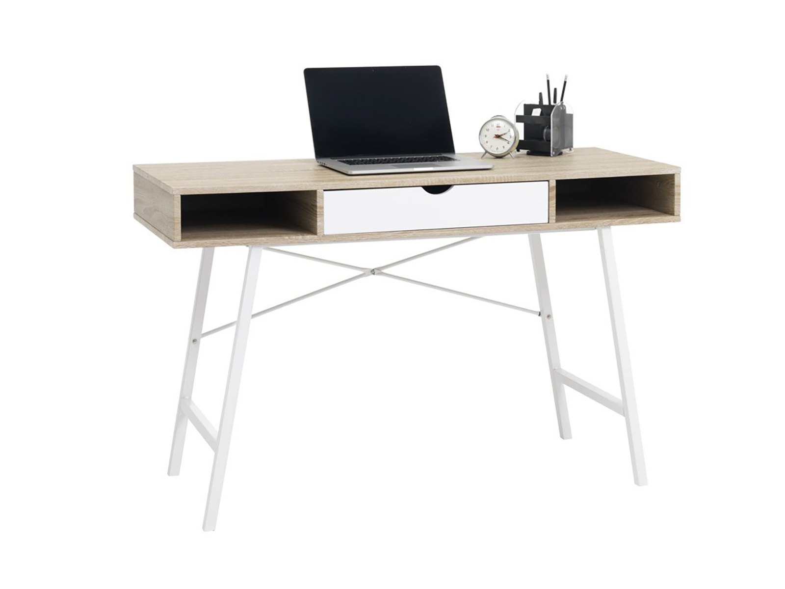 Idea PC stůl STUDENT, dub /bílá
