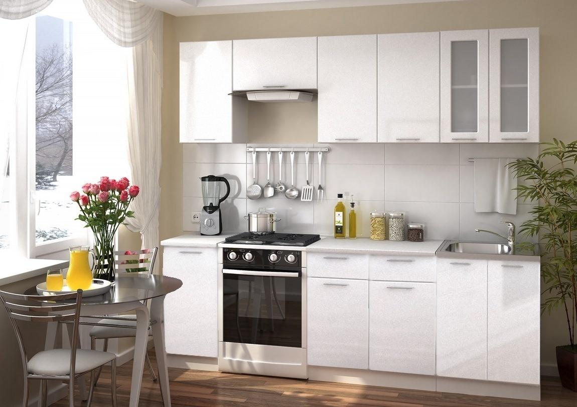 Smartshop Kuchyně VALERIA 180/240, bílý metalic