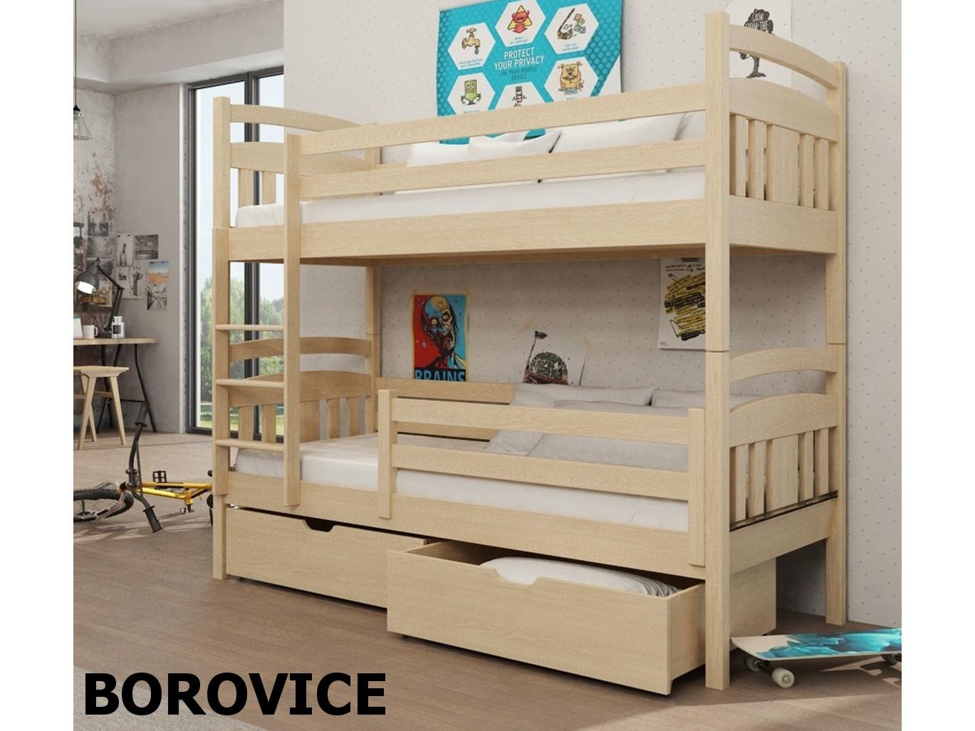 Smartshop Patrová postel HUGO 90x200 cm, masiv borovice/barva:..
