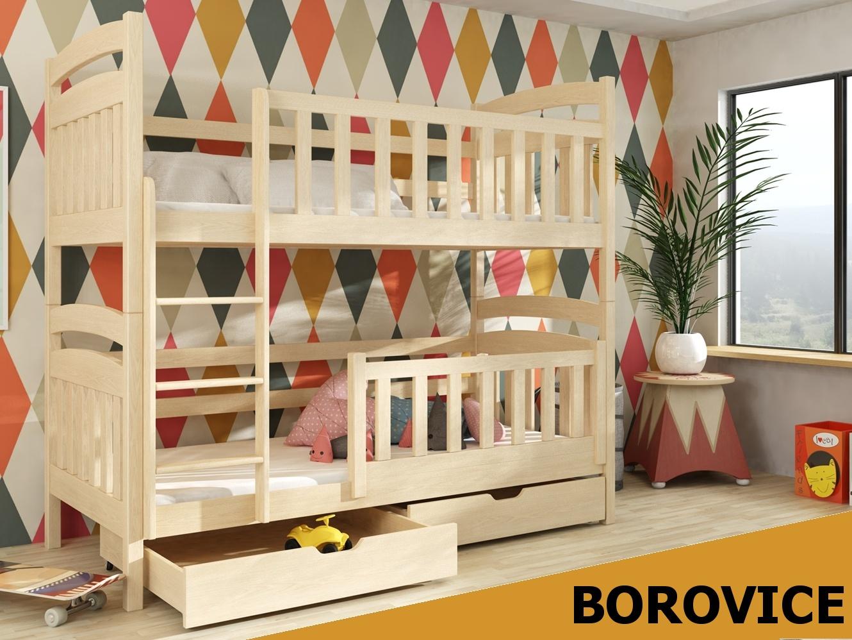 Smartshop Patrová postel PIOTRUS 90x200 cm, masiv borovice/barva:..